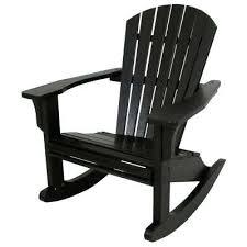 white plastic outdoor rocking chairs seashell black patio rocker