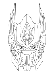 optimus prime face coloring pages transformers coloring pages