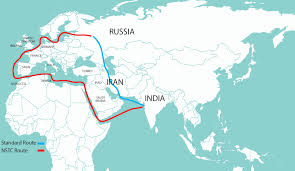 Map Of Persian Gulf Dry Run For India Iran Russia Transport Project Financial Tribune