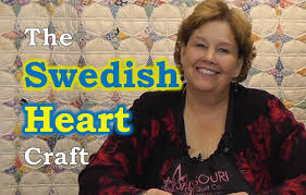 an easy swedish heart craft for christmas youtube