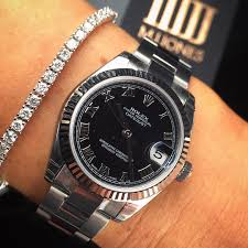 rolex bracelet diamonds images Mix match diamond tennis bracelet ladies rolex datejust with jpg