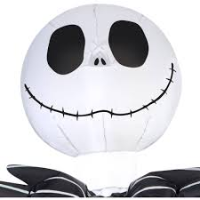 walmart inflatable halloween decorations gemmy airblown inflatable 5 u0027 x 3 5 u0027 nightmare before christmas