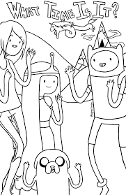 printable adventure time coloring pages coloring page