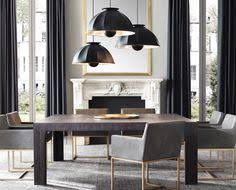 black and gold lamp in the dining room lighting pinterest