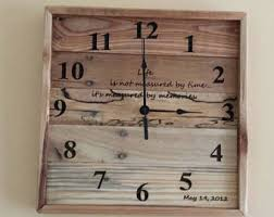 anniversary clocks engraved anniversary clock etsy