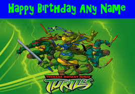 card invitation design ideas teenage mutant ninja turtles