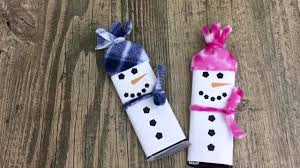free printable snowman candy bars wrappers template youtube