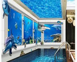 chambre theme espace 3d papier peint pour chambre océan monde piliers 3d stéréo