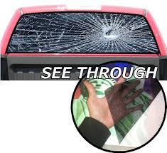 See Through Window Graphics Amazon Com P155 Broken Glass Window Decal Tint 65