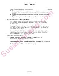 resume sample for an electronics engineer susan ireland resumes