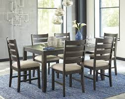 7 Piece Dining Room Set Signature Design By Ashley Rokane Brown 7 Piece Dining Room Table