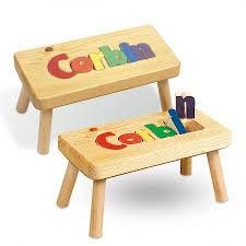 wooden name stool lillian vernon