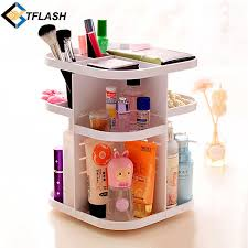 Bathroom Makeup Storage by Korean Style Tabletop 360 Degree Rotating Large Capacity Cosmetic