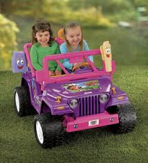 purple barbie jeep amazon com power wheels nickelodeon dora the explorer jeep