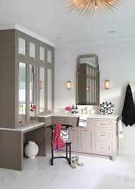 Bathroom Mirrored Cabinets by Gray Bathroom Vanity With Mirrored Cabinets And Brass Urchin
