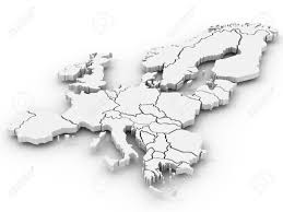 Map Of Europe Black And White by Map Of Europe 3d Stock Photo Picture And Royalty Free Image