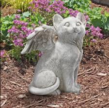 cat memorial outdoor sleeping angel wing cat memorial statue grave marker