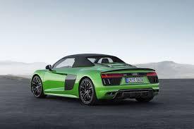 Audi R8 All Black - 2018 audi r8 spyder v10 plus drops in germany motor trend