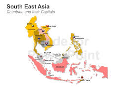 south asia countries map south east asia ma p editable powerpoint slides