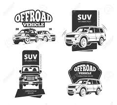 land rover defender vector suv car badges and offroad labels suv offroad car set or 4x4