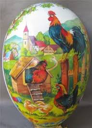 paper mache easter baskets large antique paper mache easter egg candy container