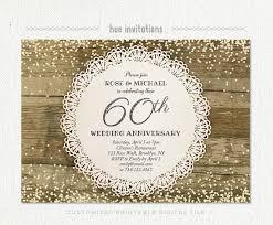 60th anniversary invitations 60th wedding anniversary invitation diamond glitter silver