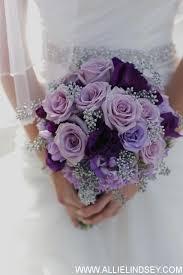 purple wedding flowers purple wedding bridal bouquet of roses lisianthus moon series