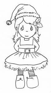 printable elf girl precious moments girl elf coloring page christmas pinterest