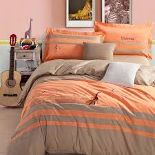 Orange Bed Sets Gray And Orange Comforter Set Buy Silver Grey Bedding King 9