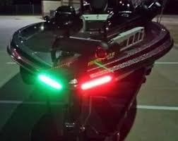 boat led strip lights amazon com boat bow led lighting red green kit sports outdoors
