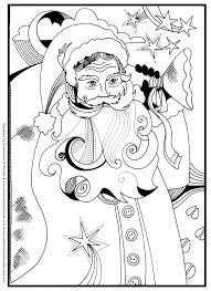 santa christmas coloring pages kidsfreecoloring