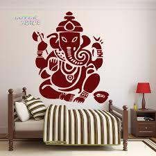 namaste home decor wall decal ganesh buddhism india indian namaste buddha god om yoga