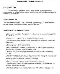 Marketing Manager Resume Sample Pdf Tele Marketing Manager Resume Top 8 Telemarketing Manager Resume