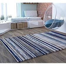 Blue Striped Area Rugs Blue Stripes Traditional Distressed 8 X 10 7 10 X 9