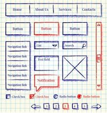 website design sketch style kit royalty free vector image