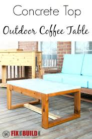 how to build a table base how to build coffee table build a diy concrete top outdoor coffee