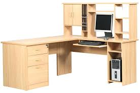 L Shaped Office Desks With Hutch Corner Office Desk With Hutch Image Of Black L Shaped And Cherry