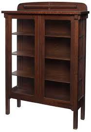 oak bookcases with glass doors arts u0026 crafts bookcase cabinet quartersawn oak with glass doors