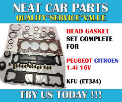 peugeot for sale canada head gasket set complete for peugeot 207 307 206 1007 1 4 16v kfu