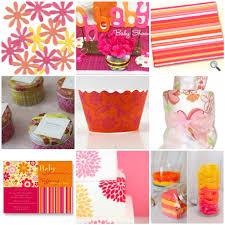 baby shower food ideas baby shower ideas pink and orange