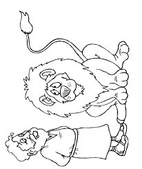 daniel and the lions den coloring page snapsite me