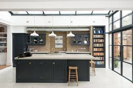 black contemporary kitchen furniture and edgy details to inspire