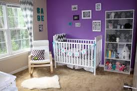 Purple Nursery Decor Baby Nursery Decor Brown Floor Marble Material Purple Baby