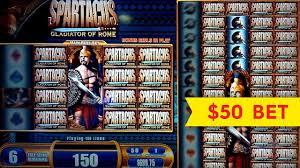 Uber Is Betting D C by Spartacus Slot Machine Jackpot 50 High Limit Bet Bonus Round