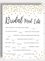 bridal mad libs 15 printable wedding everyone will