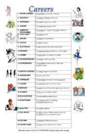english teaching worksheets careers
