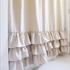 Ruffled Shower Curtain Ruffle Shower Curtain Triple Ruffle Shower Curtain Handmade