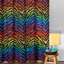 Leopard Print Shower Curtain by Rainbow Zebra Print Shower Curtain 07152110000km Kimlor Mills Inc