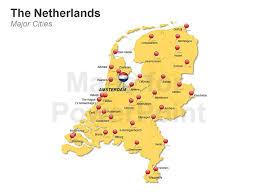 netherlands map cities powerpoint netherlands map editable ppt slides