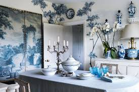 Blue  White Dining Room Ideas  Decorating Design  Wallpaper - Blue and white dining room